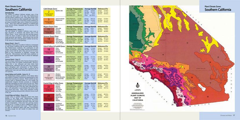 Map Of California Climate Zones.Land Design Publishing
